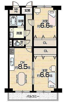 ファースト香里園ハイツ 最上階・家具、小物付