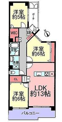 コスモ青葉台ウエストヒルズA棟 最上階、角部屋、明るい室内
