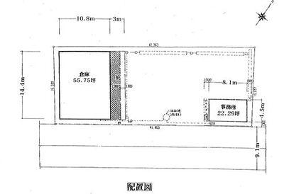 三芳町上富865-1 貸倉庫 配置図