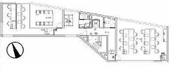 受付・会議室設置のリノベーションデザイナーズセットアップオフィス。ビルエントランス・共用部もフルリニューアル。