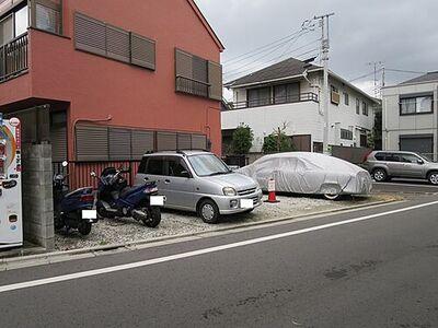 若尾駐車場(バイク置き場) 外観