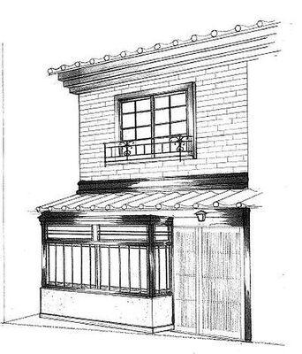都島 レトロ隠れ家店舗 パース。予定図
