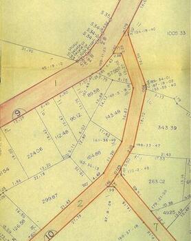 加茂河原前山土地区画整理 換地確定図 抜粋