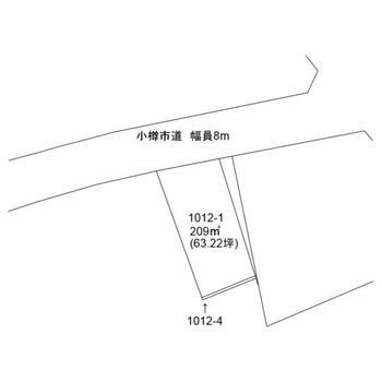 桜5(小樽築港駅) 200万円 土地価格200万円、土地面積209m<sup>2</sup>