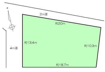 佐倉字東(横倉駅) 105万円 土地価格105万円、土地面積231.45m<sup>2</sup>