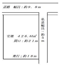 大字広野1(千年駅) 1270万円 土地価格1270万円、土地面積426.44m<sup>2</sup> 角地