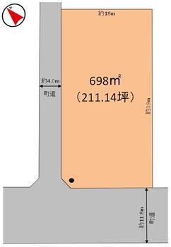 字大舘1(丸森駅) 850万円 土地価格850万円、土地面積698m<sup>2</sup>