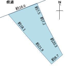 大字長苗代字内舟渡(八戸駅) 1980万円 土地価格1980万円、土地面積485.94m<sup>2</sup> 間口が18m奥行きが30m位あります。