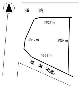 大字常盤字五宮本(北常盤駅) 890万円 土地価格890万円、土地面積588.77m<sup>2</sup> 参考区画図
