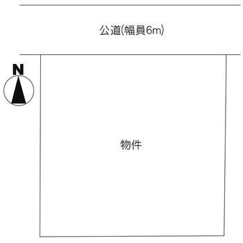 桜道(大洗駅) 600万円 土地価格600万円、土地面積247m<sup>2</sup> 区画図