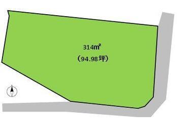 浄法寺(丹荘駅) 350万円 土地価格350万円、土地面積314m<sup>2</sup>