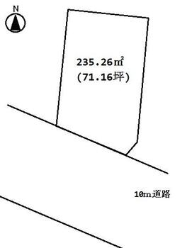 大字祖母井(多田羅駅) 640万円 土地価格640万円、土地面積235.26m<sup>2</sup> 70坪以上の土地です。