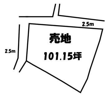 牛句(竜王駅) 150万円 土地価格150万円、土地面積334.4m<sup>2</sup>