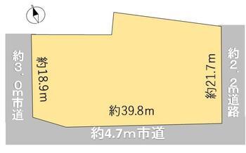 北郷町坂東島(越前竹原駅) 1096万4000円 土地価格1096万4000円、土地面積842.95m<sup>2</sup> 土地敷地図