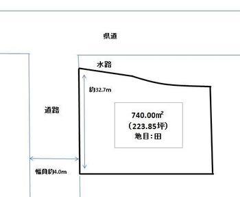 国吉 250万円 土地価格250万円、土地面積740m<sup>2</sup>