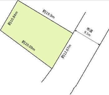 中門前2(春日山駅) 350万円 土地価格350万円、土地面積235.95m<sup>2</sup> 区画図