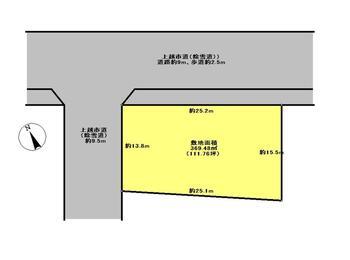 清里区みらい(上越妙高駅) 650万円 土地価格650万円、土地面積369.48m<sup>2</sup> 区画図(概略)