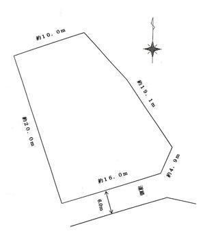 大字網代浜 420万円 土地価格420万円、土地面積313.41m<sup>2</sup> 測量図