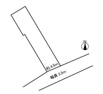 宝2(近鉄蟹江駅) 390万円 土地価格390万円、土地面積83.11m<sup>2</sup> 区画図