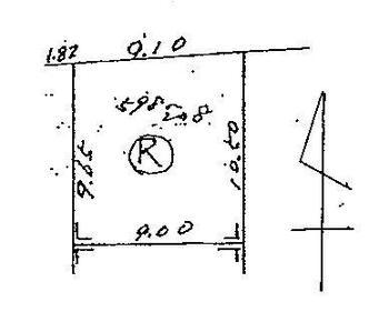 大字白鷺(桑名駅) 150万円 土地価格150万円、土地面積91.36m<sup>2</sup> 区画図