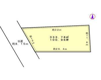 頭陀寺町(浜松駅) 2322万円 土地価格2322万円、土地面積333.78m<sup>2</sup> 150号線沿い、ゆとりの100坪!