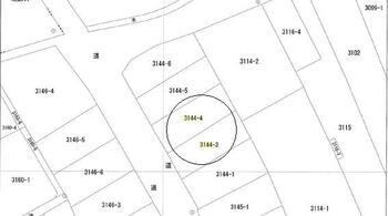 矢掛(矢掛駅) 250万円 土地価格250万円、土地面積127.9m<sup>2</sup> 公図