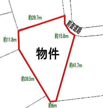つつじが原別荘地 公図写し