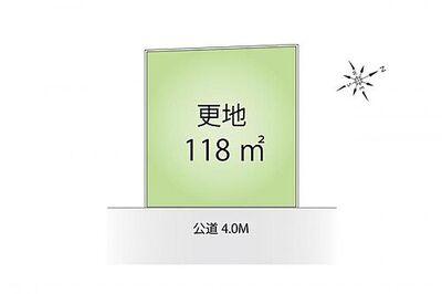 富士見市関沢2丁目 売地 区画図