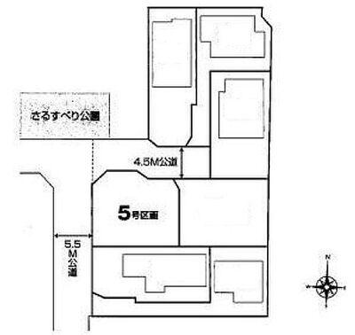 新築一戸建 ~小金井市梶野町4丁目 全5棟2区画~ 区画図
