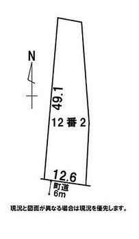 南秋田郡八郎潟町野田字下台 土地 配置図