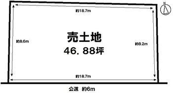 久留米市東櫛原町 売土地 土地面積:158.30m2