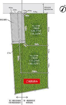 ポラスの宅地分譲 野田市中根 NO、3区画ご成約済です。実測図ではありません。