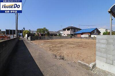 売土地 伊予郡松前町北川原 全2区画 建物解体後 外観写真