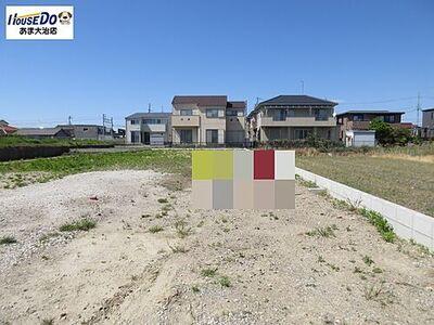 あま市新居屋八島 売土地 駐車も複数台可能です。