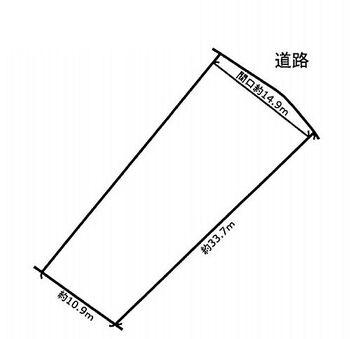 仙台市太白区八木山松波町 建築条件無し売地 区画図です。