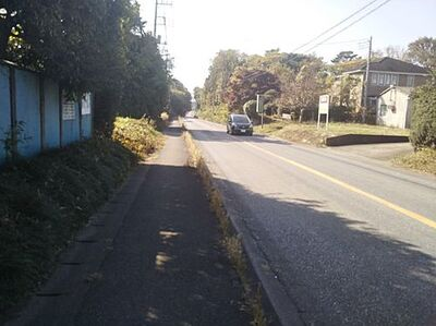 野田市木野崎売地 前面道路含む現地写真