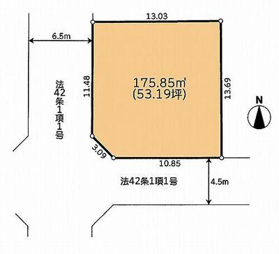 横浜市 金沢区東朝比奈1丁目土地 区画図