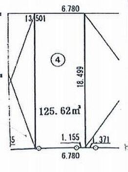 さいたま市見沼区大字蓮沼 建築条件無し売地 4画地 区画図です。