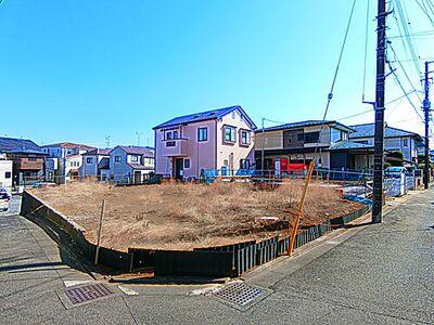 さいたま市浦和区皇山町 建築条件無し売地 現地です。