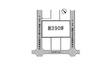 太田市東新町 建築条件無し売地 区画図