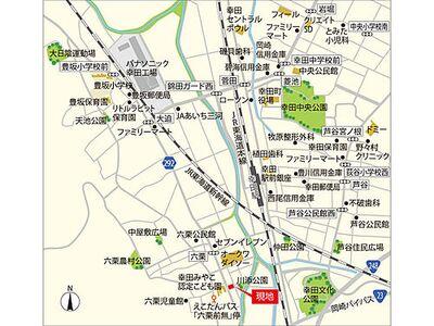 フジケン LiCOTT TOWN 幸田町六栗 現地MAP
