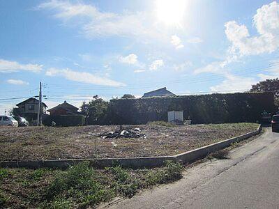 土地:つくば市上ノ室、区域指定地内につき建築可能 2号地敷地側より1号地方向