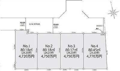 世田谷区千歳台 売り地 No.4区画