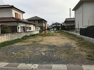 久喜駅東口徒歩18分 売土地148坪 1400万円 南北両側の公道に鉄道