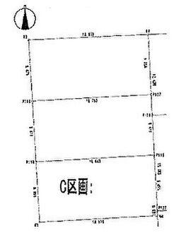 北区細江町気賀 建築条件無し売地 C区画 区画図です。
