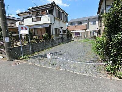 春日部市新宿新田 建築条件無し売地 現地写真です。