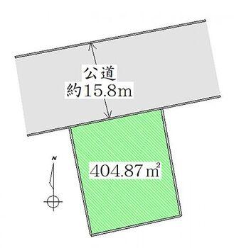 角田市岡 土地 区画図 土地広々約122坪