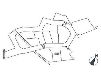 根府川第2期 建築条件無し売地 1区画 区画図です。