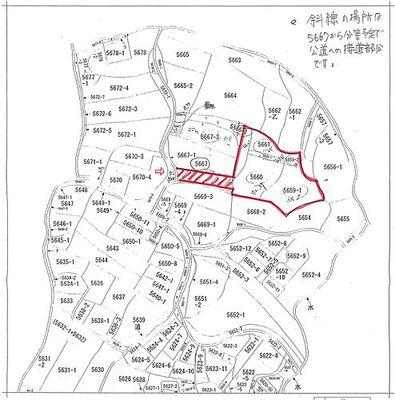 吉野町 売土地 公図