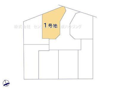 立川市一番町2丁目 売地 第21期 1号区 区画図です